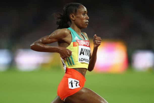 Ayana in action in during the race (Getty/Patrick Smith)