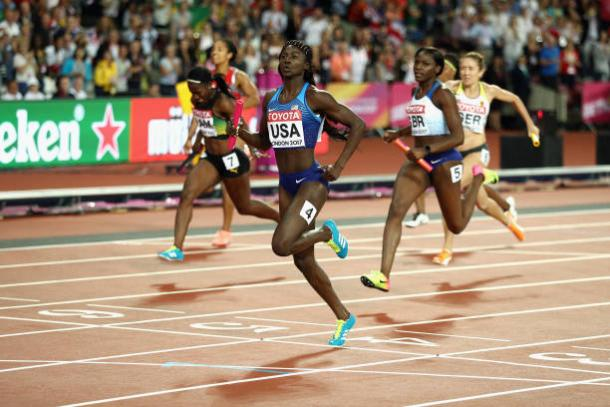 USA reclaim 4x100m world title, Britain take silver""