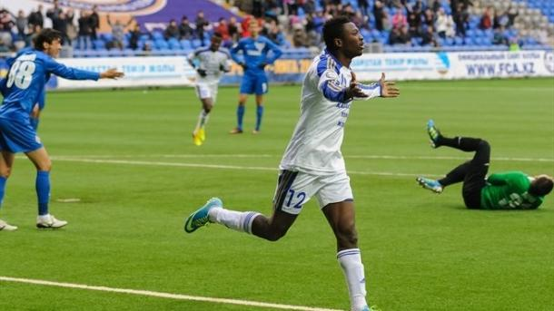 Patrick Twumasi, autore del gol che ha permesso all'Astana di accedere al terzo turno