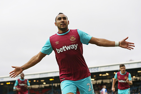 Payet celebrating goal in the FA Cup.   Photo: Getty
