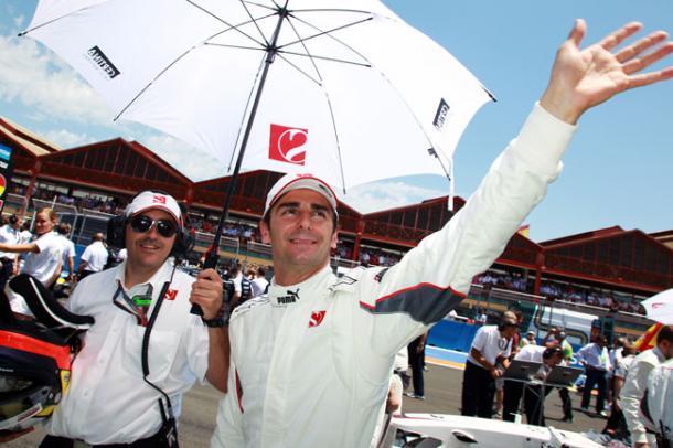 Pedro de la Rosa, en su etapa como piloto de Sauber. Fuente: Web oficial Pedro de la Rosa