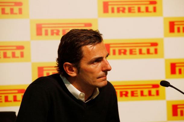 Pedro de la Rosa en su etapa como piloto probador de Pirelli: Fuente: Web oficial de Pedro de la Rosa