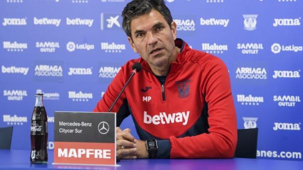 Pellegrino en rueda de prensa | Foto: cdleganés.com