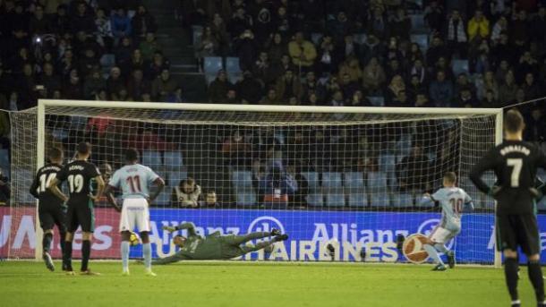 Keylor detiene el penalti de Iago Aspas | Foto: LaLiga.es