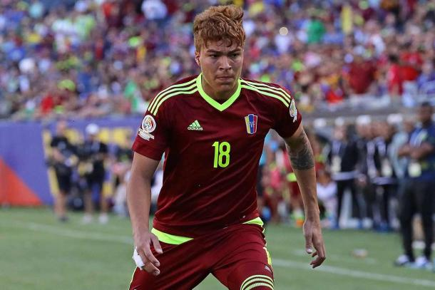 The youngster played for Venezuela in the Copa America last month (Photo: Getty Images)