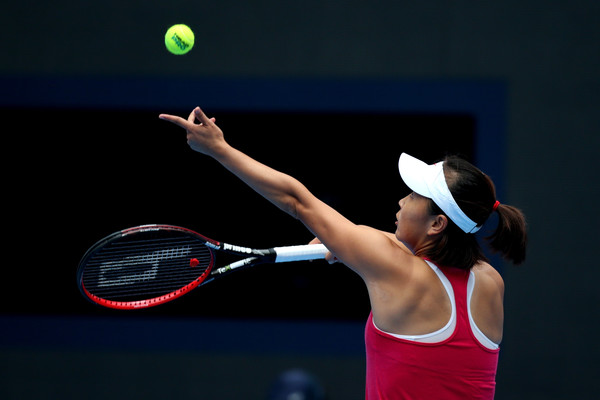Peng Shuai in action at last year's China Open | Photo: Emmanuel Wong/Getty Images AsiaPac