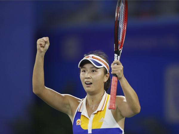 Peng Shuai celebrates her incredible win over Petra Kvitova | Photo: Yifan Ding/Getty Images AsiaPac