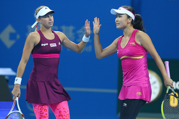 Andrea Hlavackova and Peng Shuai in 2014 | Photo: Chris Hyde/Getty Images AsiaPac