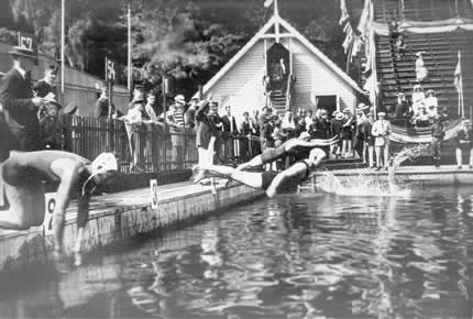 Pentatletas en Estocolmo 1912. Foto: todolimpiadas.com