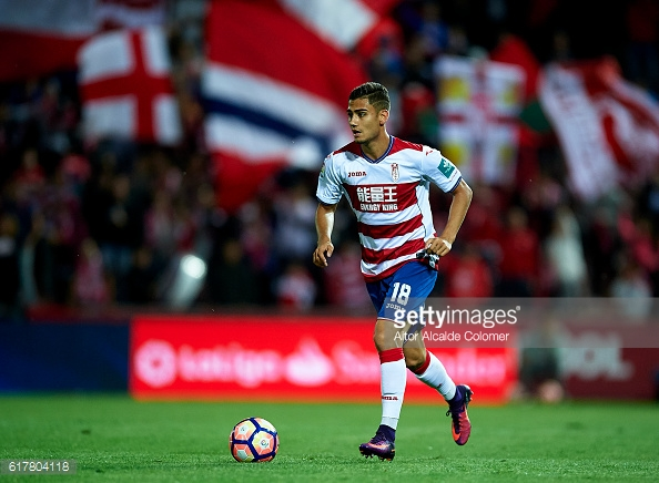 Pereira in action for Granada against Sporting Gijon in a 0-0 draw on Saturday | Photo via Getty Images