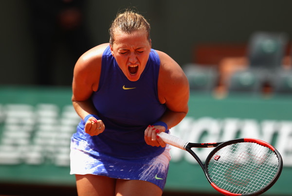 The six-month lay-off did not take away Kvitova's fight on court | Photo: Clive Brunskill/Getty Images Europe