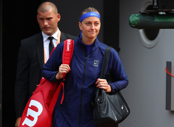 Petra Kvitova walks onto the court for the first match of her comeback at the French Open | Photo: Clive Brunskill/Getty Images Europe