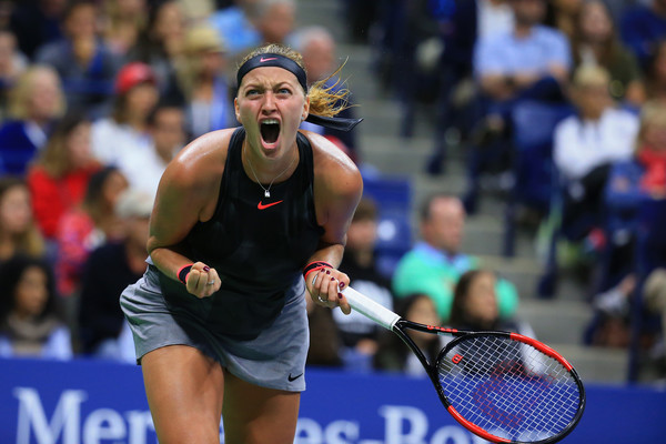 Petra Kvitova earns the first top-10 win of her comeback, defeating Muguruza in a late-night thriller | Photo: Chris Trotman/Getty Images North America