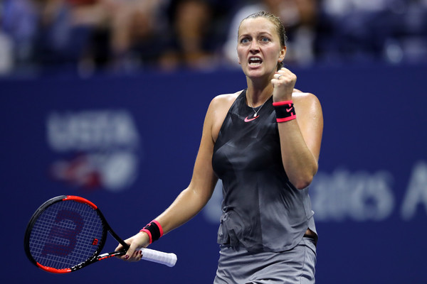 Petra Kvitova was simply unplayable on her serve at this point in time | Photo: Elsa/Getty Images North America