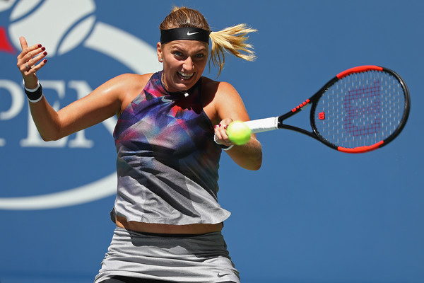 Kvitova powers past Muguruza and into US Open quarters
