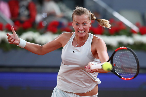 Kvitova's forehand was simply just too good at times | Photo: Clive Brunskill/Getty Images Europe