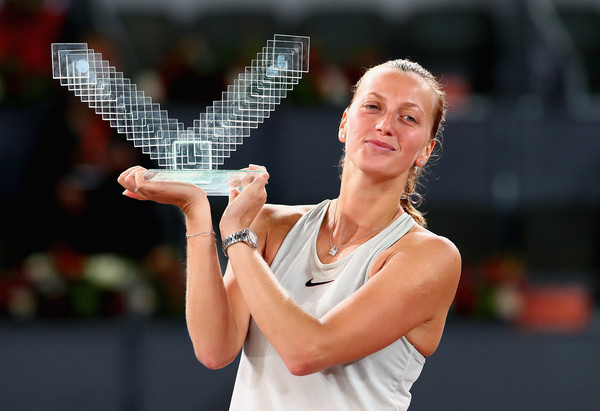 Petra Kvitova is currently on a 11-match winning streak having won titles in Prague and Madrid | Photo: Clive Brunskill/Getty Images Europe