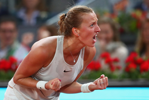 Kvitova was pumped up during the final set, having fired some unbelievable winners in the process | Photo: Clive Brunskill/Getty Images Europe