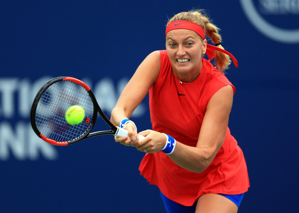 Petra Kvitova in action during her first round match | Photo: Vaughn Ridley/Getty Images North America