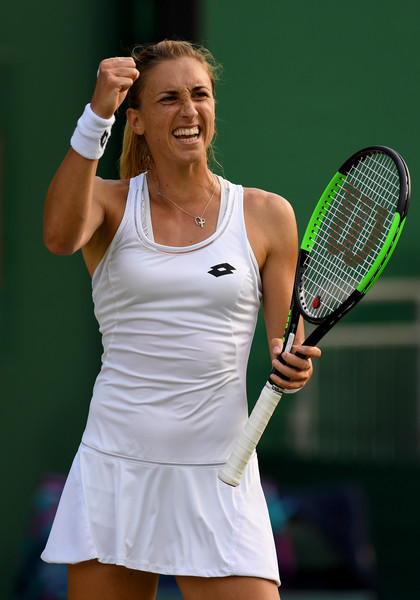 Petra Martic celebrates her huge win over Gavrilova in the first round | Photo: David Ramos/Getty Images Europe