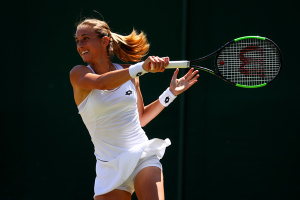 Petra Martic in action during the match | Photo: Clive Brunskill/Getty Images Europe