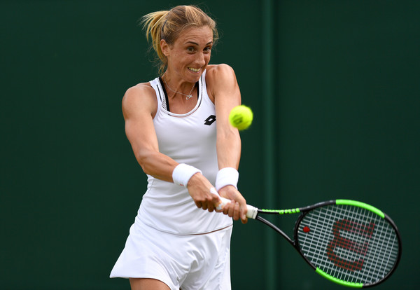 Petra Martic hits a backhand | Photo: David Ramos/Getty Images Europe