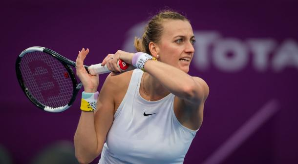 Kvitova was victorious over the Spaniard for the first time in four career meetings in the Middle East