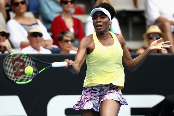 Venus Williams in action against Jade Lewis at the ASB Classic (Getty/Phil Walter)