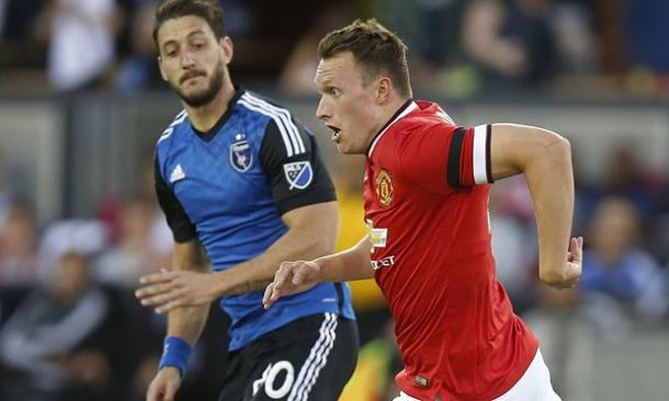 Phil Jones has played in all three of United's pre-season friendlies so far.   Photo: Getty Images