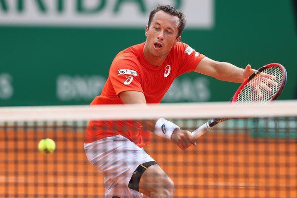Kohlschreiber in Monte Carlo tennis action. Photo: Michael Steele/Getty Images