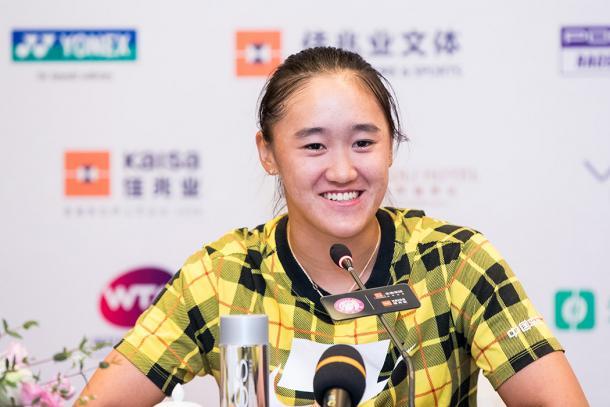 Rising star Wang Xiyu was handed a wildcard into the main draw | Photo: Shenzhen Open