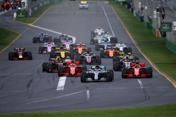 Momento de la largada en Melbourne | Foto: F1
