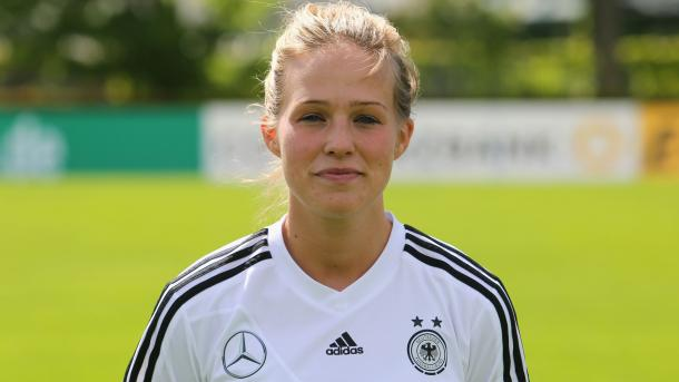 Linden with the German national team. | Image source: Birmingham City Ladies