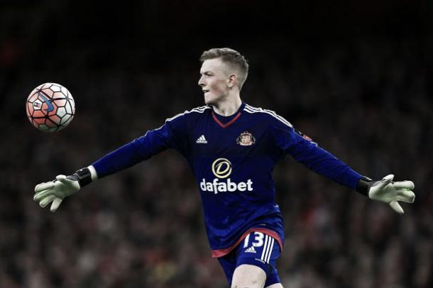 Above: Jordan Pickford in action for Sunderland in their 3-1 defeat to Arsenal | Photo: The Chronicle