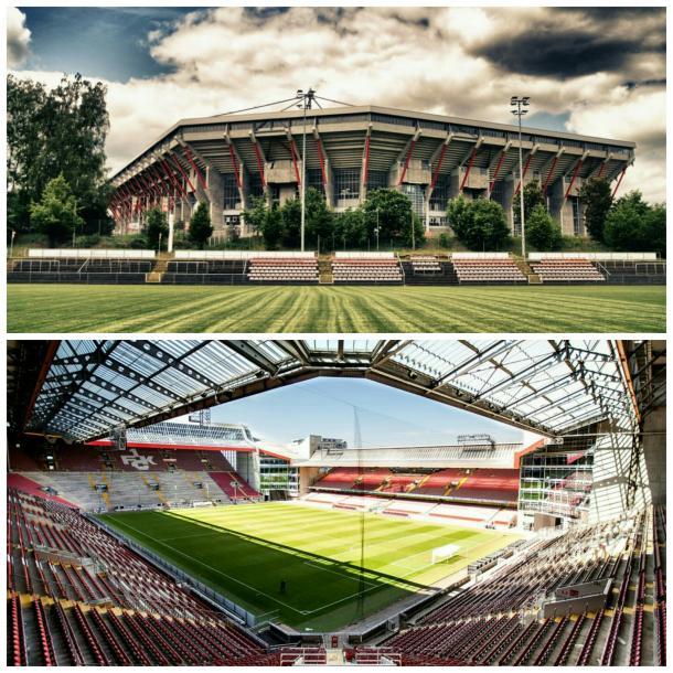 Exterior e interior del estadio que albergará el Alemania-Azerbaiyán. Foto: FC Kaiserslautern