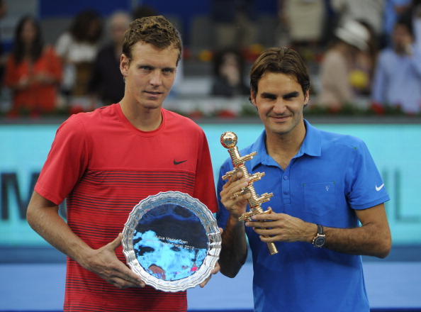 Federer claimed his third title in Madrid in 2012, defeating Berdych in the final. Credit: Pierre-Philippe Marcou/Getty Images