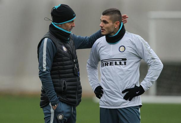Pioli a colloquio con Icardi, inter.it