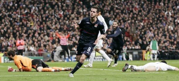Pjanic celebra el gol en el Bernabéu. Foto: Ligue 1