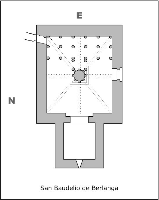 Planta de la ermita de San Baudelio. Fuente: Creative Commons.