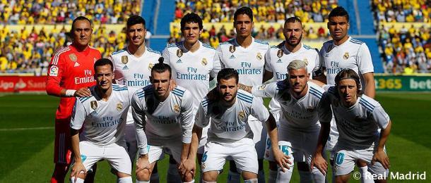 La plantilla del Real Madrid antes del partido frente a Las Palmas | Foto: Realmadrid.com