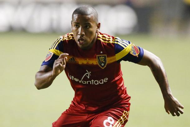 Joao Plata in action during the 2015 MLS season / Jeff Swinger - USA TODAY Sports