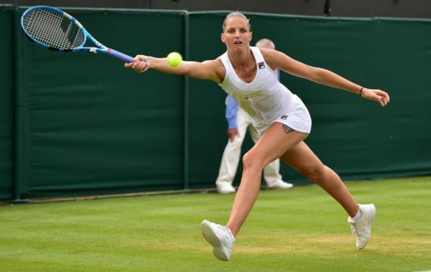 Pliskova fez sua melhor campanha em Wimbledon na carreira, mas caiu no R4 (Foto: