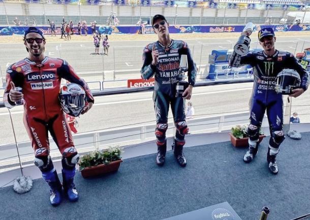 Podio Gran Premio Red Bull de España / Fuente: Instagram Oficial