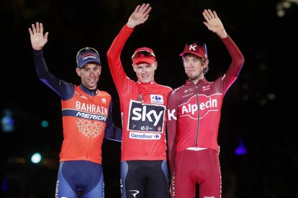 Podio final de la Vuelta a España | Foto: Unipublic
