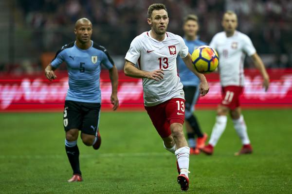 Maciej Rybus durante el amistoso ante Uruguay en Varsovia | Foto: Getty Images Europe