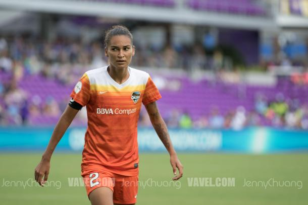 Poliana leads the Dash in 4 goals scored for 2017. | Photo: Jenny Chuang - VAVEL USA