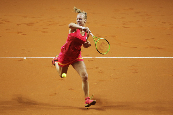 Kiki Bertens in action | Photo: Adam Pretty/Bongarts