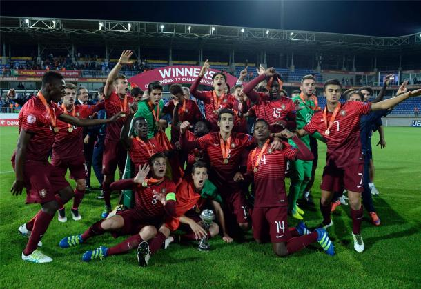 Portugal won the 2016 UEFA European Under-17 Championship on penalties. (Source: Grenzecho)