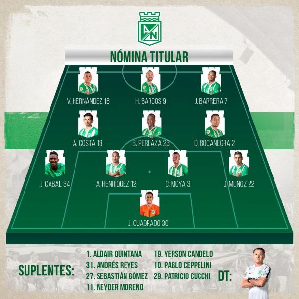 Imagen: Atlético Nacional Oficial