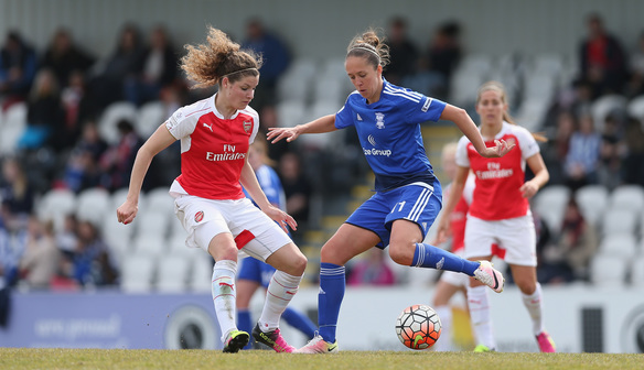 Potter in action against Arsenal Ladies. (Source: Birmingham City Ladies)